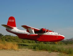 Martin Mars. This particular aircraft, one of only 5 built, is still flying, in active service as a water bomber fighting forest fires on Vancouver Island, Canada. There are actually two left, but only one is used. It's hard to get a sense of just how large this aircraft is until you get up close. Stats to follow.