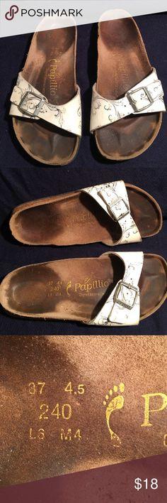 BIRKENSTOCK LEATHER PAPILLION SANDALS 37 LADIES 6 PREOWNED WORN GOOD CONDITION 37 LADIES 6 BIRKENSTOCK Shoes Sandals