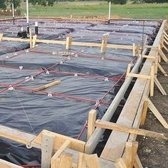 x 100 ft. Black 6 mil Plastic - The Home Depot Pole Barn House Plans, Pole Barn Homes, Barn Plans, Building Foundation, House Foundation, Metal Building Homes, Building A New Home, Black Plastic Sheeting, How To Install Pavers