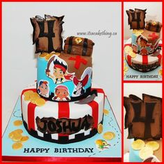 Jake & The Neverland Pirates Cake - by itsacakething @ CakesDecor.com - cake decorating website