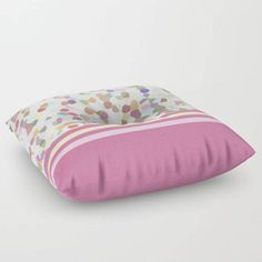 Floor Pillow Lots of Dots Pink Round or by BacktoBasicsPillows
