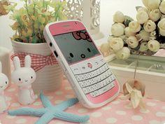 Custom Hello Kitty White Blackberry
