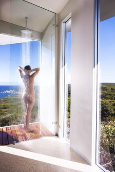 Eco Luxury Resort: Southern Ocean Lodge, Kangaroo Island, Australia    Like showering in the rain!