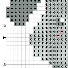 Grey Puppy Cross Stitch Pattern