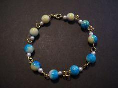 """9"""" eye chain multi-color ceramic beaded bracelet. by SDJewelryandDesign on Etsy"""