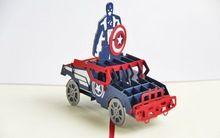 Capitán américa pop up 3D the avengers tarjetas tarjeta de felicitación envío gratis(China (Mainland))