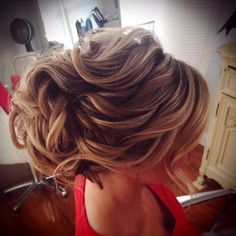 Beautiful wavy up do