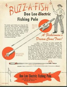 1949 Electric Fishing Pole Flyer ad.