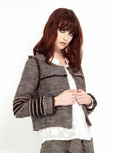 Tarot Tweed Embellished Jacket