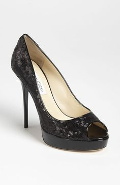 Crown Open Toe Pump