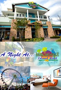 Photo tour of Margaritaville Island Hotel in Pigeon Forge, Tennessee Smoky Mountains Tennessee, Great Smoky Mountains, East Tennessee, Sevierville Tennessee, Gatlinburg Tn, Alaska Travel, Travel Usa, Alaska Cruise, The Places Youll Go