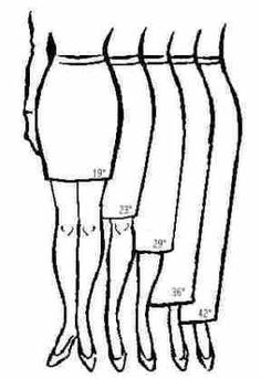Skirt Lengths.... Usually shorter on me due to these longer limbs :-)