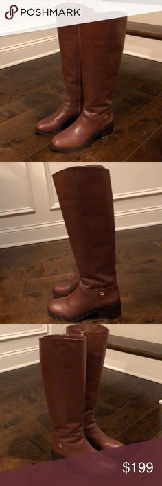 Tory Burch Long Boots Tory's leather long boot with man made sole. Used couple of times. Tory Burch Shoes Heeled Boots