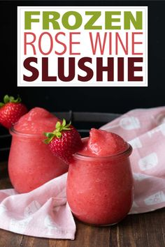 These frozen rosé wine slushies are absolutely delicious and so easy to make. Simply combine three ingredients with ice in a blender and your new summmer drink is ready! #adultdrinks #summerdrinks Best Summer Cocktails, Cocktails For Parties, Party Food And Drinks, Fancy Drinks, Best Vegan Recipes, Vegan Dessert Recipes, Milk Recipes, Cooking Recipes, How To Make Frose