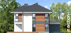 Projekt domu Willa Miranda 4 (G2) - ARCHON+ Outdoor Structures, Outdoor Decor, Home Decor, Ideas, Homemade Home Decor, Thoughts, Decoration Home, Interior Decorating