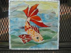 Koi Fish mosaic little table top by bbcile, via Flickr