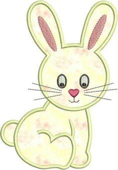 DESCARGAR INSTANT lindo conejito apliques diseños 3 Felt Animal Patterns, Baby Quilt Patterns, Applique Patterns, Applique Designs, Quilting Designs, Quilt Baby, Machine Embroidery Applique, Applique Quilts, Soft Baby Blankets