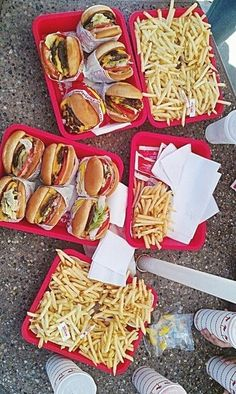 In n out feast... This is probably what it's going to look like when Nick comes back from USAF TECH SCHOOL in August! Hahaha