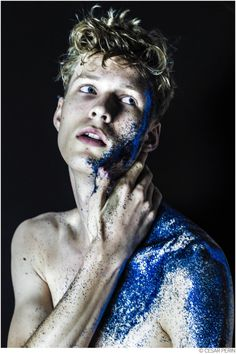 Sven de Vries is Glitter Bombed for Photos by Cesar Perin