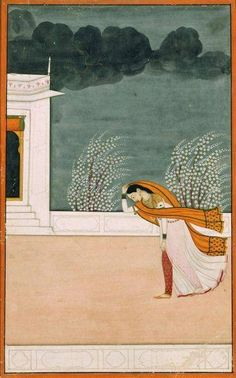 Woman in a Windstorm, Mughal India, c. 1780
