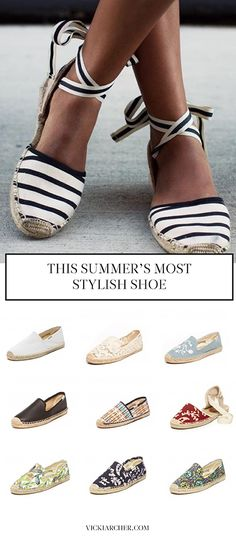 the only shoe you'll need this summer - vicki archer http://vickiarcher.com/2015/05/espadrilles-where-to-find-those-lace-ups/