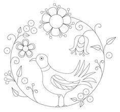 mexican folk art bird template
