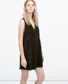 Image 3 of STUDIO LEATHER DRESS from Zara