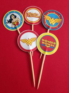 Wonder Woman cupcake/cake toppers 15 pcs - decoration, party, birthday, Super