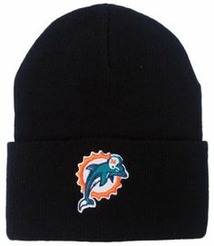 ed32b9f7a3f Vintage High-Bulk Miami Dolphins Black Cuff Beanie by NFL.  9.99. Color