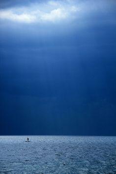 lone paddle board Cebu, Philippines.