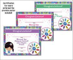 Daisy Girl Scouts Petal Certificates Printable by BellaNoche1