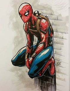Who is the cunning actor in avengers. Marvel Art, Marvel Dc Comics, Marvel Heroes, Spiderman Kunst, Spiderman Drawing, Comic Books Art, Comic Art, Avengers, Marvel Drawings