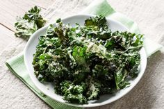 Munch on healthy kale chips to brighten up your day.