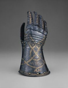 Anton Peffenhauser (Probably)  German, Augsburg        Fingered Gauntlet for the Right Hand, c. 1520              Steel with gilding