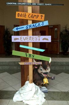 VBS 2015-Everest Tell it on the Mountain VBS Would be cool to do this ...