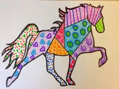 Jackson's Art Room: Romero Britto Inspired Walking Horses