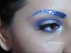 Galaxy inspired makeup tutorial + Glittery eyebrows part 1 – Rain Kemperman - Space Glitter Eyebrows, Galaxy Makeup, Fantasy Make Up, Galaxy Fashion, Hey Good Lookin, Spirit Wear, Glitter Dress, Alternative Fashion, Alternative Style