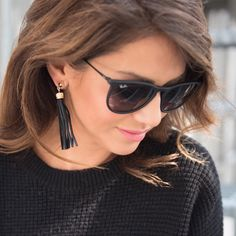 Get the Bauble Babe look with these tassel drop earrings!