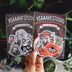We have 2 sticker packs coming this wednesday at www.yeaaah-studio.com  Swipe for a better look at what's inside. We ship worldwide by yeaaahstudio