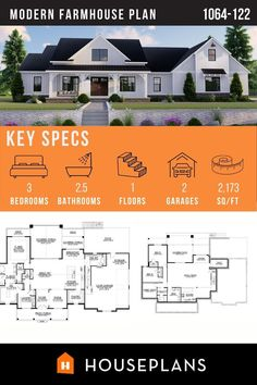 Like us on Facebook to see more beautiful plans like this one! Modern Farmhouse Plans, Farmhouse Decor, Cozy Living Rooms, Classic Style, Architecture Design, Floor Plans, How To Plan, Mansions, House Styles