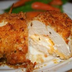 "Garlic-Lemon Double-Stuffed Chicken | ""Chicken breasts stuffed with Cheddar and cream cheese. Sure to become a family favorite."""