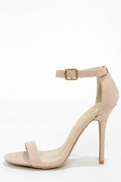 Adele 01 Nude Single Strap Heels by Wild Diva Lounge