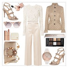 """""""Cream and Taupe"""" by sparklemeetsclassic on Polyvore featuring The Row, Givenchy, Valentino, Miu Miu, Burberry, A.L.C., Olivia Burton, Jimmy Choo, Paul & Joe and Charlotte Tilbury"""