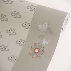 Floral Gray Border - Vinyl Self-Adhesive Wallpaper Prepasted Wall stickers Wall Decor (Roll) Blancho Wallpaper http://www.amazon.com/dp/B005XX8JRK/ref=cm_sw_r_pi_dp_qLy8tb0ZA4T42