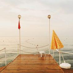 #pier #sunrise #yellow #turkey #tranquil #peace #sea #sky | hakanyesil | VSCO Grid