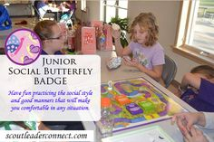 Junior Social Butterfly Badge