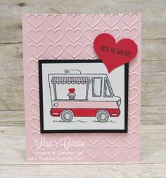 Sweet Tasty Trucks Lisa s Stamp Studio Sweet Tasty Trucks Lisa s Stamp Studio Carole Doody cldoody Valentine cards and treats Sweetness in a food truck Tasty nbsp hellip up Valentine for kids Love Valentines, Valentine Day Cards, Holiday Cards, Valentine Ideas, Valentine's Cards For Kids, Card Drawing, Stamping Up Cards, Card Patterns, Love Cards
