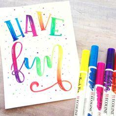 Resultado de imagem para ecoline brush pen lettering