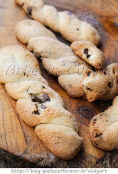 Treccine dolci friabili biscotti al burro con cioccolato vickyart arte in cucina