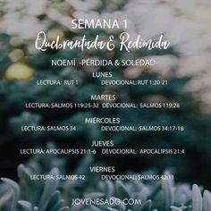 QUEBRANTADA Y REDIMIDA/ Semana 1 - Lunes    Plan de Lectura Semanal    #JovenesADG #ComunidadADG #QuebrantadayRedimida #AmaaDiosGrandemente #EstudiosBiblicosparaJovenes #Dios #Redencion #Quebranto
